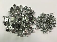 """50 x 3/4"""" Picture Frame Offset Clips with Screws for Canvas, Mirrors, etc"""