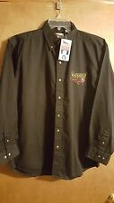 NWT Pittsburgh Steelers Vintage NOS Stitched Long Sleeve Button Front Shirt