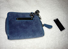 Juicy Couture Velour Go Steady SFP Zip Around Wallet Navy NEW NWT YSRUO035