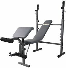 Body Champ Mid-Width Weight Bench with Preacher Curl & Leg Developer