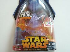 "STAR WARS REVENGE OF THE SITH YODA HOLOGRAPHIC TOYS""R""US EXCLUSIVE HASBRO figure"