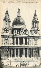 Saint Paul's Cathedral West Front England Postcard