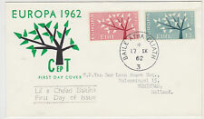 IRELAND, Scott #184-185 on Illustrated FDC to Schiedam, Issued Sept. 17, 1962