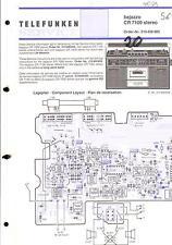 Telefunken Original Service Schaltplan für Bajazzo CR 7100 stereo