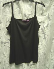 BLACK SOFT SMOOTH STRETCHY KNIT CAMI CAMISOLE SHELL TANK TOP~16/18W~1X~2X~NEW