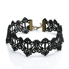 Sexy Gothic Hollow Black Lace Pendant Choker Collar Necklace Women's Jewelry New