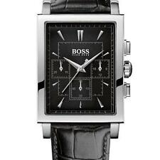 **NEW** MENS HUGO BOSS BLACK CLASSIC CHRONO LEATHER WATCH - 1512849 - RRP £279