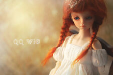 QQ8-05A 5~6 inch mohair wig, Hair fit 1/8 tiny BJD Doll Ponytail carrot color