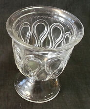 EAPG Bryce Brothers-US Glass Clear RIBBON CANDY Sugar Bowl