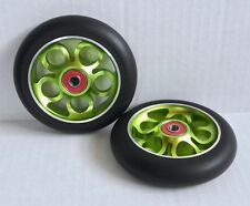 "4.5"" caster wheels - ""Inner Circles"" (green) - TiLite-Quickie wheelchairs"