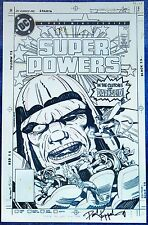 SUPER POWERS #1~FAUX COVER ART~DC COMICS~JACK KIRBY~SIGNED KUPPERBERG~DARKSEID