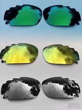 REPLACEMENT GREEN / SILVER / GOLD MIRRORED VENTED OAKLEY JAWBONE & RACING LENSES