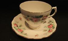 Royal Vale Lovely Vintage Bone China Tea Cup & Saucer Rosebud Design