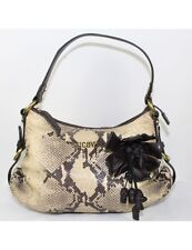 ROBERTO CAVALLI Snake Print Leather Shoulder Bag