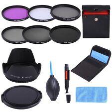 62mm UV CPL FLD ND2 4 8 Filter Kit+Lens Hood+Cap For Tamron AF 18-250mm/18-200mm