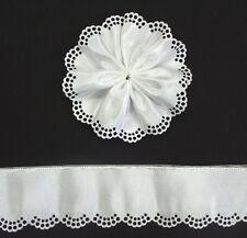 DIY Almond Holder Ribbon - White Flower  - Wedding Favours / Bomboniere