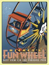 "MICKEY'S FUN WHEEL CALIFORNIA ADVENTURES -  DISNEY POSTER 8.5"" x 11"""
