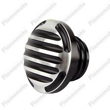 CNC Finned Fuel Gas Tank Oil Cap Cover For Harley Dyna Softail Road King Fatboy