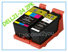 2PK Series 21/22/23 Ink Cartridges Black/Color for Dell V515w V313w V313 Printer