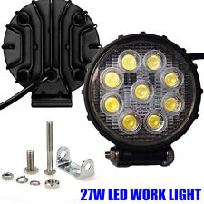 "2pcs Round 4.5"" 27W LED Work Light Fog FLOOD Lamp Off-road SUV ATV UTV Driving"