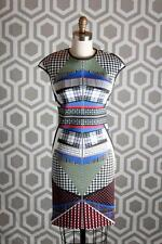 NWT Clover Canyon Body-Con Book Of Kells Dress Medium M $268 Cap Sleeves