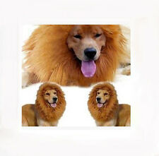 Pet Fancy Dress Up Costume Cat Lion Mane Wig for Large Dogs Halloween Clothes