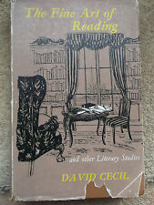 THE FINE ART OF READING BY DAVID CECIL 1957 HARDBACK