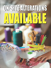 "On-Site Alterations Available Dry Cleaners Display Sign, 18""w x 24""h, Full Color"