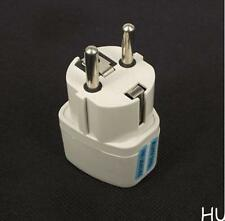 UK US AU to EU Power Socket Plug Adapter Tripl Converter SJ6 Safe And Protable