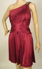 $358 NWT BCBG MAXAZRIA ONE SHOULDER CRANBERRY DRESS M