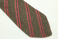 MISSONI Wool Silk tie E28499 Made in Italy  man classic beige striped