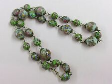 ANTIQUE VENETIAN WEDDING CAKE BEAD NECKLACE 1920