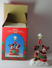 Disney's Christmas Collection Minnie & Mickey Mouse Carolers Figurine w Box