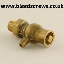 "Cast Iron Radiator - Traditional Bleed Valve / Screw / Vent / Air 1/8"" Brass"