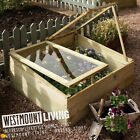 NEW WOOD PRESSURE TREATED WOODEN TIMBER COLD FRAME MINI GROW HOUSE PLANTER