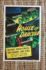 House Of Dracula Lobby Card Movie Poster