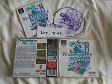 Transport Tycoon PS1 (COMPLETE) strategy rare Sony PlayStation classic