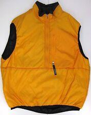 PATAGONIA nylon pullover vest men's medium mango orange half-zip ripstop