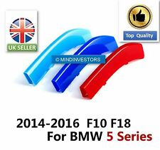 3 Colours Sport Kidney Grill (front) Covers Clip BMW 5 Series F10 F18 2014-2017