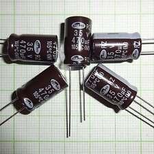 10 St. Elko 470 µF 35V Kondensator Stützkondensator Flackerschutz  - E463