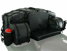 Polaris Arctic Cat Can-Am Honda Universal ATV REAR Passenger STORAGE SEAT Black