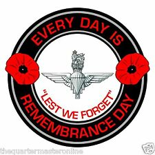 The Parachute Regiment Remembrance Day Inside Car Window Clear Cling Sticker