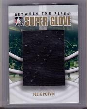 FELIX POTVIN 08/09 ITG BTP Large Leather Super Glove Patch GOLD /10 Rare SP