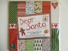 "12x12"" Scrapbook Papers Dear Santa Full Pack 24 sheets  Christmas"