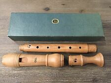 Vintage Ariel Gill Alto All Wood Recorder - Made in Israel w/ Original Box NICE~