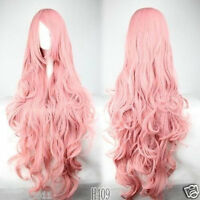 Cheap Long Vocaloid- Luka Pink Wavy Anime Cosplay Wig+ gift