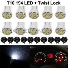 10pcs White T10 194 168 SMD Instrument Panel Gauge Cluster Dash LED Light Bulb