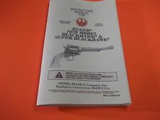 1993 RUGER NEW MODEL BLACKHAWK & SUPER BLACKHAWK MANUAL, 34 pages of useful info