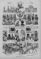 SKETCHES IN RUSSIA DOMES OF THE KREMLIN MOSCOW HORSE TROTTING SLEIGH CLERGY ARMY