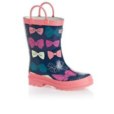 NEW In Box HATLEY Party Bows Girls Wellies Sz 8 Wellington Rain Boots 25.5 NEXT